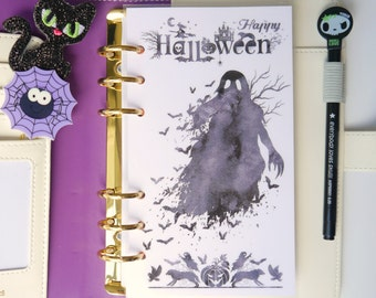 Haunted Ghost Personal, A5, A6, B6 & Pocket Size Planner Dashboards