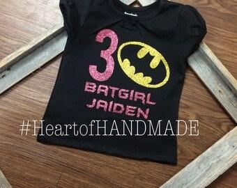 Batgirl Batman birthday shirt
