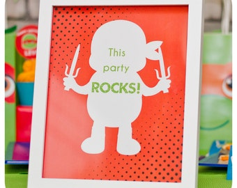Teenage Mutant Ninja Turtle Signs; TMNT Party; Ninja Turtle Birthday Party Signs