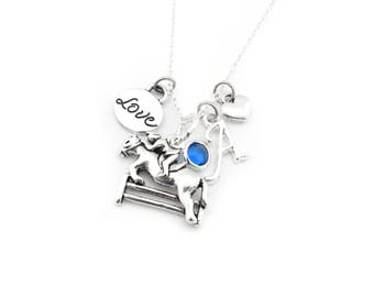 Equestrian Necklace, Horse Necklace, Equestrian Gifts, Horse Gifts, Horse Gifts for Girls, Equestrian Jewelry, Horseback Riding Gift