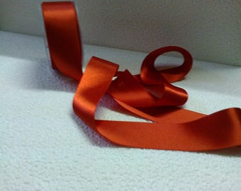 4cm wide bright red satin ribbon