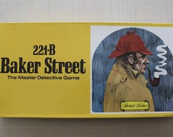 221B Baker Street Master Detective Board Game Hansen Sherlock Holmes 1977