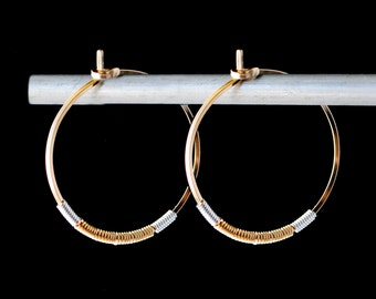 Gold and Silver Hoop Earrings,Gold Hoop Earrings,Silver and Gold Hoop Earrings,Gold Hoop Earrings,Twisted Gold Hoops,Mixed Metal Hoops,Hoops