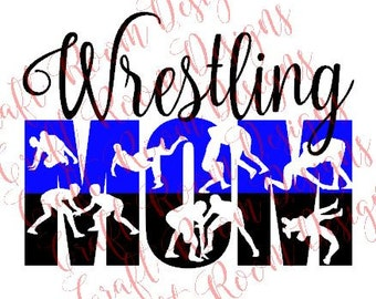 Wrestling Mom Digital Design