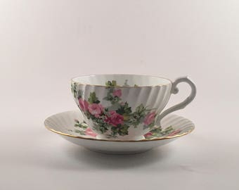 Stanley Pink Rose Tea Cup and Saucer