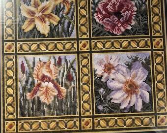 SUMMERSALE TW Design Works, Flower Quartet, Teresa Wentzler, Counted Cross Stitch Pattern