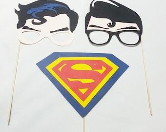 Superman/Clark Kent party props