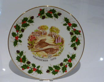 Royal Grafton Twelve Days of Christmas 1978 Plate - Three French Hens
