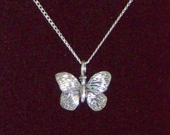 """Sterling Silver butterfly with 16"""" chain."""