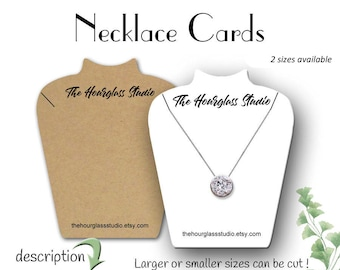 Necklace Display Cards | Jewelry Cards | Custom Jewelry Cards | Jewelry Display | Necklace Cards | Display Cards | Earring Cards