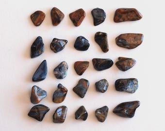 Namibian Pietersite Tumbled Gemstone - Tumbled Pietersite - Polished Pietersite, 25 pieces