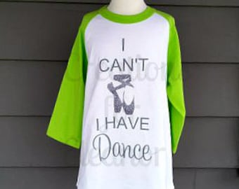 Girls Dance Shirt, Girls Raglan Sleeve Shirt, Girls Baseball Shirt, Girls Dance T-shirt, Ballet Shirt, Ballet T-shirt
