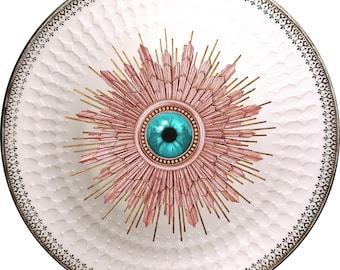 London Burst - Eye - Vintage Porcelain Plate - #0588