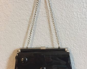 50s/60s Patent Leather Purse-to-Clutch Bag