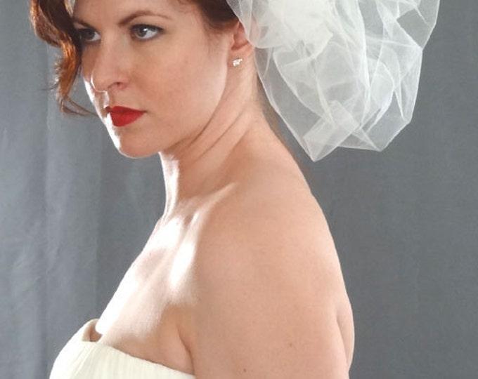 Featured listing image: Wedding Veil, Bridal Pouf, Couture Veil, Pouf Veil