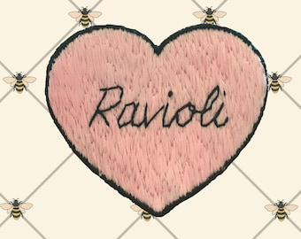 Ravioli Embroidered Iron-on Patch