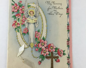 Vintage Die-Cut Mother's Day Card