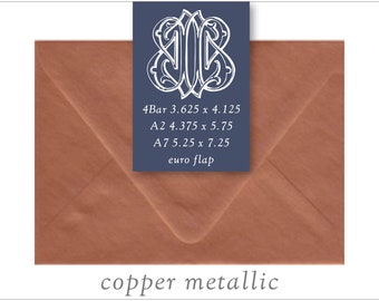 Copper Metallic   10 Blank Euro Envelopes   A7 • A2 • RSVP