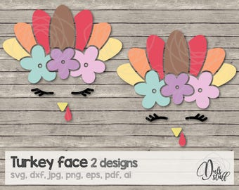 Turkey face svg, turkey face, turkey face cricut, turkey face silhouette, cut file, svg, dxf, jpg, png, eps, pdf, ai