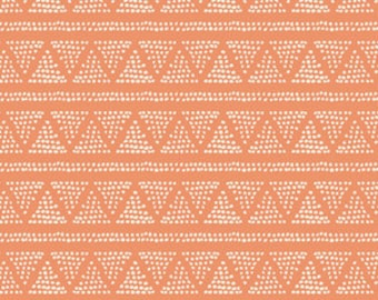 SALE Crib Sheet Tangerine -Geometric Baby Bedding /Fitted Crib Sheets Orange /Changing Pad Covers /Changing Table Pad Cover /Nursery Bedding