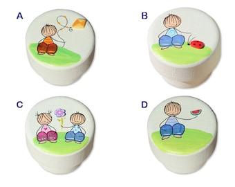 Kids Dresser Knobs, Hand Painted Knobs, Dresser Knobs and Pulls, Boys room Decor, Baby nursery art, Drawer Handles, Colorful Knobs
