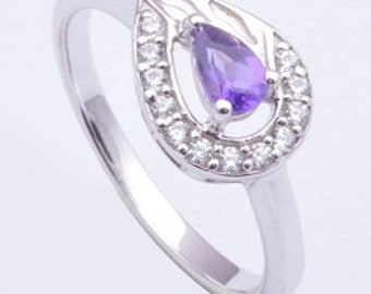 Handmade ring, 925 sterling silver ring, Amethyst ring ,Silver ring