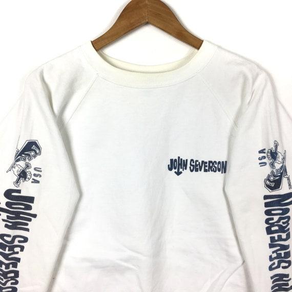 SUN Beach Medium Hawaii SURF Big Colour Sweatshirt 90s Vintage White John Style Surfing Crewneck Surfboards Gift Size Severson By Logo TxOIZWwpq