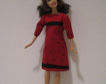 Barbie Red Print Dress