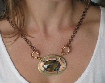 Double Sided Original Pendant - Reversible Necklace - One of a Kind Artisan Jewelry