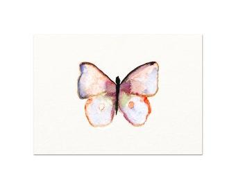Watercolor Butterfly Art Print. Modern Minimal Nursery Wall Art. Butterfly Poster.  Archival Butterfly Art Print. Unique Butterfly Art.