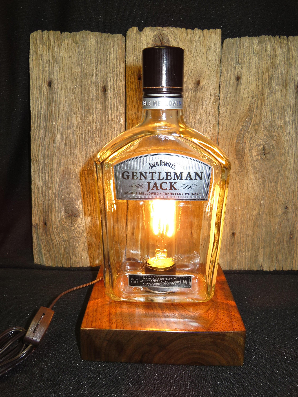 Recycled jack daniels gentleman jack whiskey desk lamp tn zoom arubaitofo Choice Image