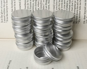10ml Screw Lidded Metal Tins, Blank Round Silver Color, A Set Of 50 Tin Boxes, Small Storage For DIY Project