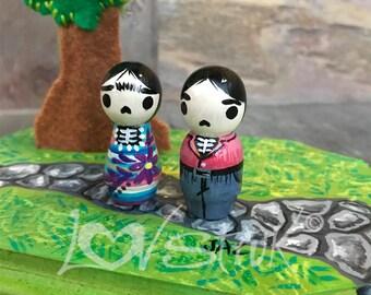 Diego and Frida Tree Photo Holder (Pink)