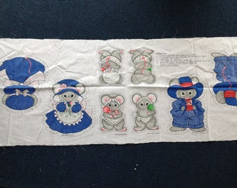 Mouse Family - Sewing Fabric Panel