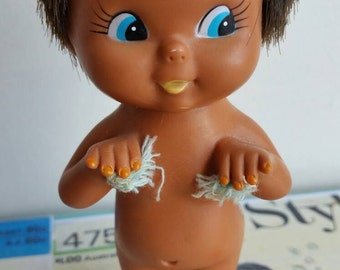 Rudey nudey kitsch kewpie cutie nipple tassle brown skin bare cheek sassy emotions little doll