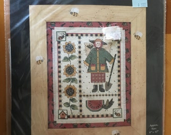 Counted Cross Stitch Kit, 'THE GARDENER', Designed by Debbie Mumm, by: DIMENSIONS