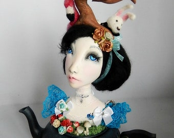Ooak Sculpture Art doll Alice in Wonderland