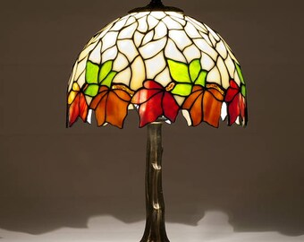 Tiffany Lamp 9'' Kastanie model Creativ 22, Tiffany Desk Lamp, Tiffany Lamp, Desk Lamp, Lamp
