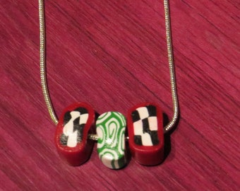 Psychedelic Clay Beads