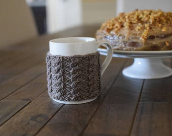 Knit Mug Cozy, Handmade Mug Cozy, Tea Cozy, Mug Warmer, Cup Cozy, Coffee Mug Cozy, Tea Cosy, Mug Sleeve