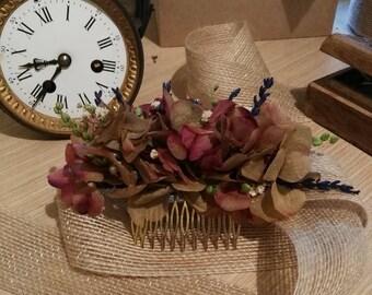 Flower Comb/Wedding comb/bridal headpiece/Guest headdress/comb/flower hair comb/bohemian/flamenco headdress