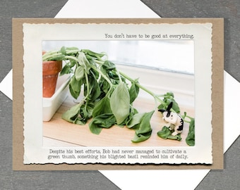 Funny Gardening Card • Life Lesson Card • Just Because Everyday Empathy Card • Green Thumb Card • Funny Bunny All Occasion Card
