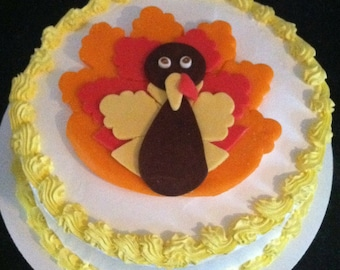 Fondant Sugar Turkey Cake Topper