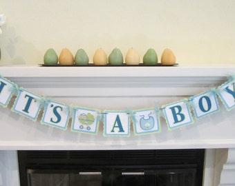 Baby boy banner, It's a boy banner, Baby shower, Baby shower decoration, Blue boy banner, Baby shower banner, Cute baby banner,