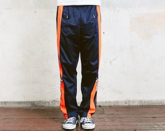 Adidas Snap Track Pants . Vintage Men's Tear Away Pants 90s Sweatpants Wide Fit Tracksuit Bottoms Trousers Rave Pants . size Small S