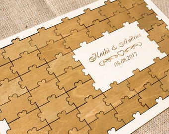 Puzzle guest book Alternative Wedding guest book alternative Wedding guestbook Guest book ideas Puzzle wedding guestbook alternative