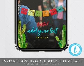 Fiesta Baby Shower Snapchat Geo Filter  | Editable Geofilter | Taco bout Baby, Taco bout Love, Party, Cactus, Succulent, Summer | DC078