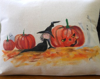 Whimsical Halloween Pillow Cover
