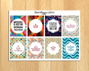 Motivational & Inspirational Quotes Planner Stickers (MS-001)