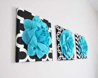 Wall Art Fabric Flower Wall Art Fabric Nursery Wall Hanging Felt Flower Custom Choose your Own Colors